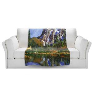Artistic Sherpa Pile Blankets   David Lloyd Glover - Mountain Stillness   landscape mountain nature