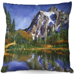 Decorative Outdoor Patio Pillow Cushion   David Lloyd Glover - Mountain Stillness   landscape mountain nature