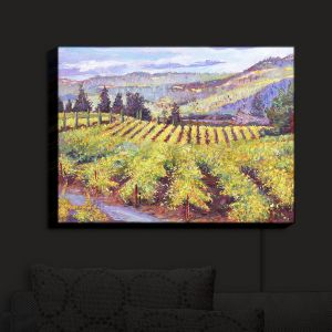 Nightlight Sconce Canvas Light   David Lloyd Glover - Napa Valley Vineyards   california wine nature