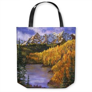 Unique Shoulder Bag Tote Bags   David Lloyd Glover - October Colors   mountain lake forest nature landscape