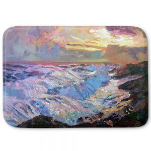 Decorative Bathroom Mats | David Lloyd Glover - Pacific Ocean Blue