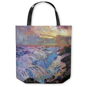 Unique Shoulder Bag Tote Bags | David Lloyd Glover Pacific Ocean Blue