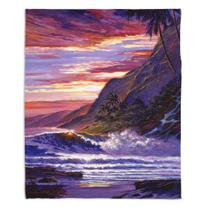 Decorative Fleece Throw Blankets | David Lloyd Glover - Paradise Beach | coast ocean sea