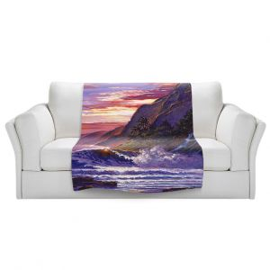 Artistic Sherpa Pile Blankets | David Lloyd Glover - Paradise Beach | coast ocean sea