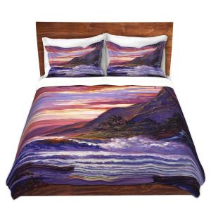 Artistic Duvet Covers and Shams Bedding | David Lloyd Glover - Paradise Beach | coast ocean sea
