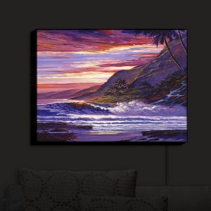 Nightlight Sconce Canvas Light | David Lloyd Glover - Paradise Beach | coast ocean sea