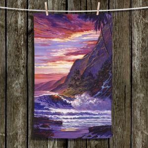 Unique Hanging Tea Towels | David Lloyd Glover - Paradise Beach | coast ocean sea