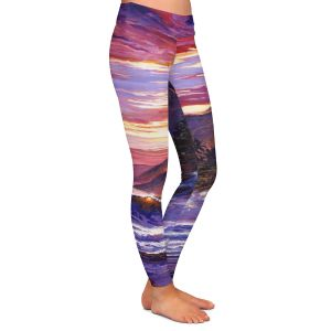 Casual Comfortable Leggings | David Lloyd Glover - Paradise Beach | coast ocean sea
