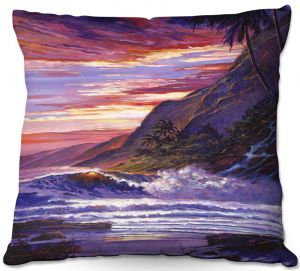 Throw Pillows Decorative Artistic | David Lloyd Glover - Paradise Beach | coast ocean sea