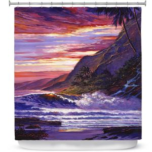 Premium Shower Curtains | David Lloyd Glover - Paradise Beach | coast ocean sea