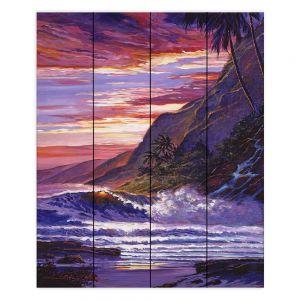 Decorative Wood Plank Wall Art | David Lloyd Glover - Paradise Beach | coast ocean sea