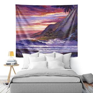 Artistic Wall Tapestry | David Lloyd Glover - Paradise Beach | coast ocean sea