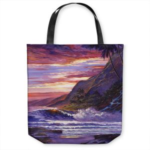 Unique Shoulder Bag Tote Bags | David Lloyd Glover - Paradise Beach | coast ocean sea