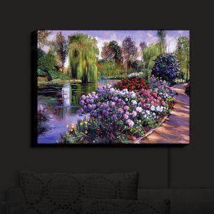 Nightlight Sconce Canvas Light | David Lloyd Glover - Promise of Spring | park flower pond tree