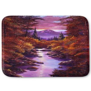 Decorative Bathroom Mats | David Lloyd Glover - Quiet Autumn Stream | landscape mountain nature