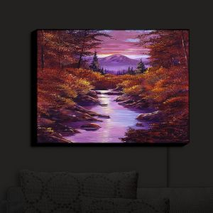 Nightlight Sconce Canvas Light | David Lloyd Glover - Quiet Autumn Stream | landscape mountain nature