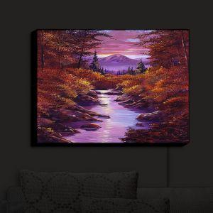 Nightlight Sconce Canvas Light | David Lloyd Glover - Quiet Autumn Stream | landscape mountain nature