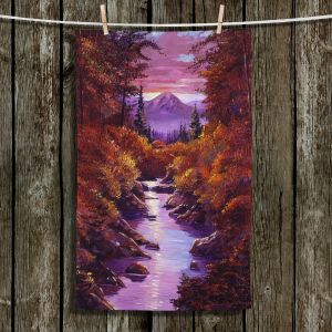 Unique Bathroom Towels   David Lloyd Glover - Quiet Autumn Stream   landscape mountain nature