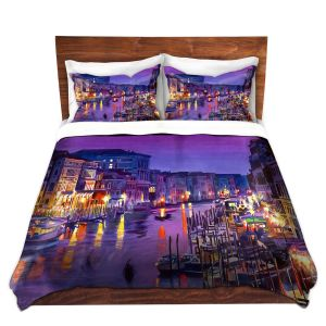Artistic Duvet Covers and Shams Bedding | David Lloyd Glover - Romantic Venice Night