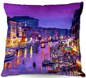 Throw Pillows Decorative Artistic | David Lloyd Glover's Romantic Venice Night