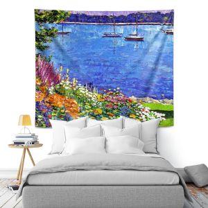 Artistic Wall Tapestry | David Lloyd Glover Sailboat Bay Garden