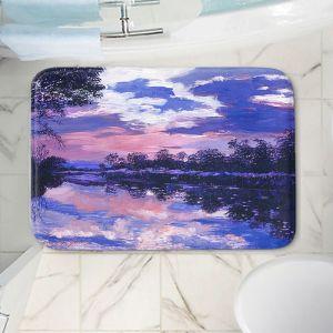 Decorative Bathroom Mats | David Lloyd Glover - Seine River Dawn | river landscape impressionism