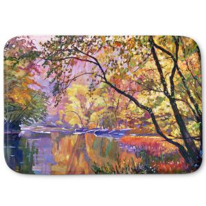 Decorative Bathroom Mats | David Lloyd Glover - Serene Reflections | landscape mountain nature