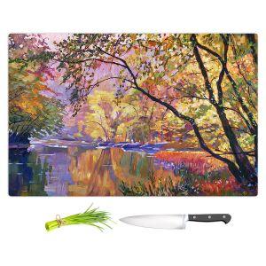 Artistic Kitchen Bar Cutting Boards | David Lloyd Glover - Serene Reflections | landscape mountain nature