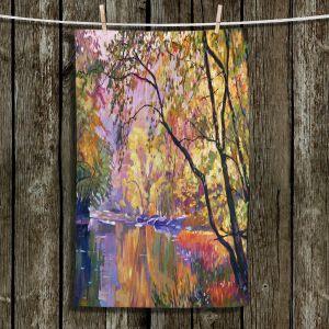 Unique Hanging Tea Towels   David Lloyd Glover - Serene Reflections   landscape mountain nature