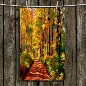 Unique Hanging Tea Towels | David Lloyd Glover - Silence is Golden | Forest Trees Path