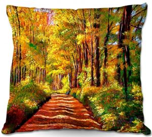 Unique Throw Pillows from DiaNoche Designs by David Lloyd Glover - Silence is Golden   18X18