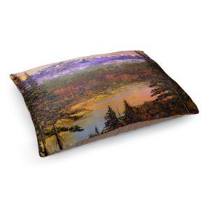 Decorative Dog Pet Beds | David Lloyd Glover - Silent Vision | mountain lake pond forest landscape