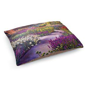 Decorative Dog Pet Beds | David Lloyd Glover - Spring Garden Path | flower nature