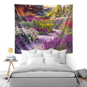 Artistic Wall Tapestry   David Lloyd Glover - Spring Garden Path   flower nature