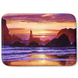 Decorative Bathroom Mats | David Lloyd Glover - Sunset at Oregon Rocks | landscape mountain nature