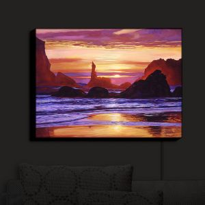 Nightlight Sconce Canvas Light | David Lloyd Glover - Sunset at Oregon Rocks | landscape mountain nature