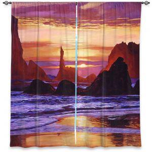 Decorative Window Treatments | David Lloyd Glover - Sunset at Oregon Rocks | landscape mountain nature