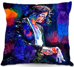 Decorative Outdoor Patio Pillow Cushion | David Lloyd Glover - The Final Performance Michael Jackson