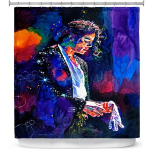 Premium Shower Curtains | David Lloyd Glover The Final Performance Michael Jackson
