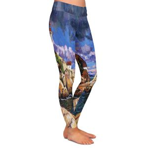 Casual Comfortable Leggings | David Lloyd Glover - The Mariners Sentinal | landscape mountain nature