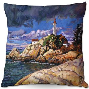 Throw Pillows Decorative Artistic | David Lloyd Glover - The Mariners Sentinal | landscape mountain nature
