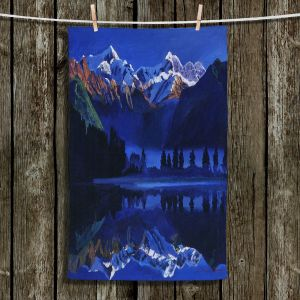 Unique Bathroom Towels | David Lloyd Glover - The Ultimate Blue | landscape mountain nature