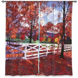 Decorative Window Treatments | David Lloyd Glover - Vermont Fence | farm landscape nature fall autumn