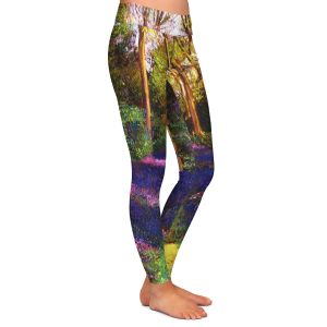 Casual Comfortable Leggings | David Lloyd Glover - Walking Through Blue | forest path trees nature