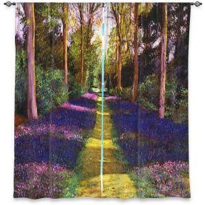 Decorative Window Treatments | David Lloyd Glover - Walking Through Blue | forest path trees nature