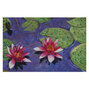 Decorative Floor Covering Mats | David Lloyd Glover - Water Lilies | pond flower nature