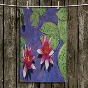 Unique Bathroom Towels | David Lloyd Glover - Water Lilies | pond flower nature