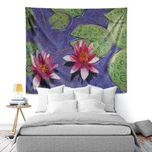 Artistic Wall Tapestry   David Lloyd Glover - Water Lilies   pond flower nature