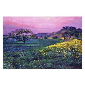 Decorative Floor Covering Mats | David Lloyd Glover - Wildflower Fields | landscape nature