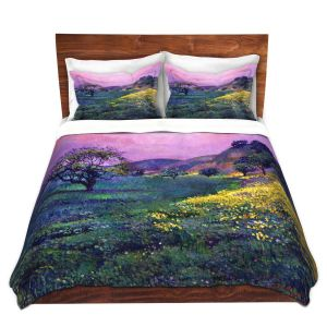 Artistic Duvet Covers and Shams Bedding | David Lloyd Glover - Wildflower Fields | landscape nature